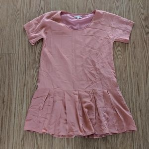 Broadway and Broome madewell sz 8 silk dress pink